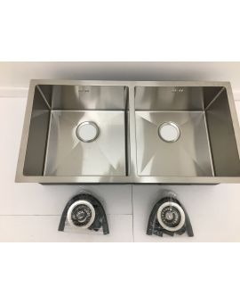 Undermount Double bowl sink 7544D