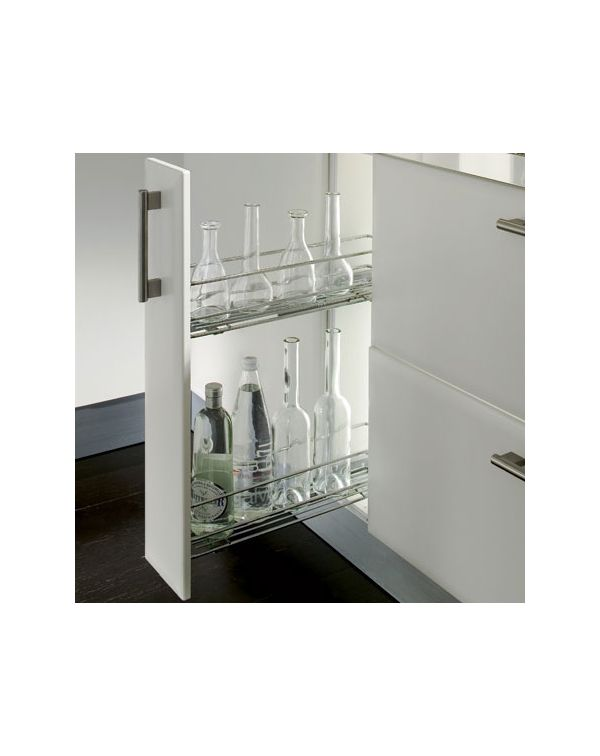 Pull out basket spice rack for 150mm kitchen unit soft close