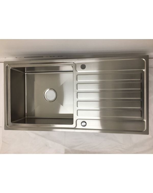 Deep bowl hand made stainless steel Inset kitchen sink