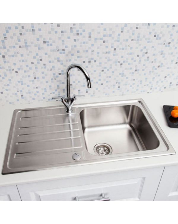 Single Medium bowl stainless steel Inset kitchen sink