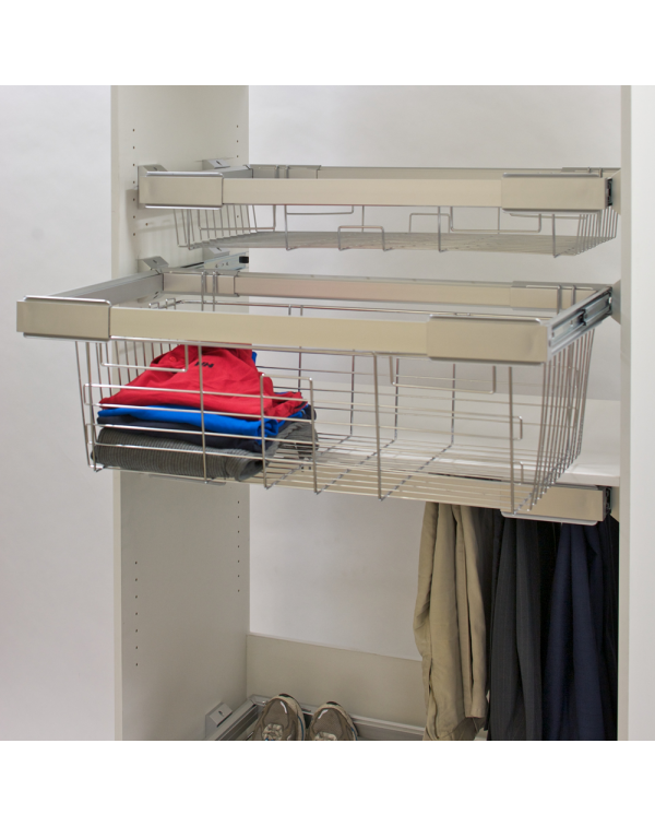 Wardrobe pull out soft close Towel, Trouser and shirt storage basket